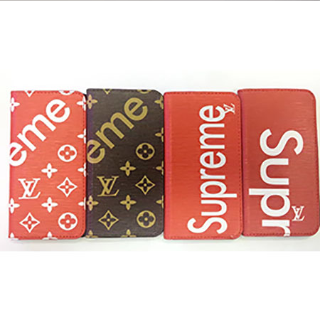 SUPREME LV iphone8ケース 手帳