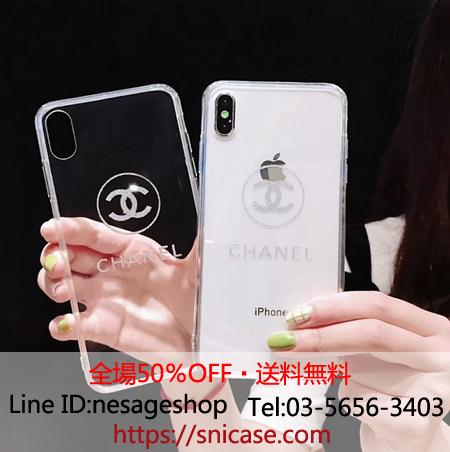 813b15cf7d6f シャネル iPhoneXSMax ケース 背面ガラス iphonexr/xs/xカバー chanel 透明デザイン iphone8/7 plus保護カバー  セレブ愛用 薄い