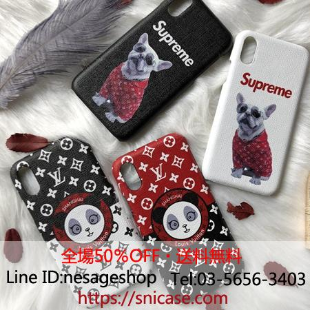 lv&supreme iphone11proケース 犬 パンダ