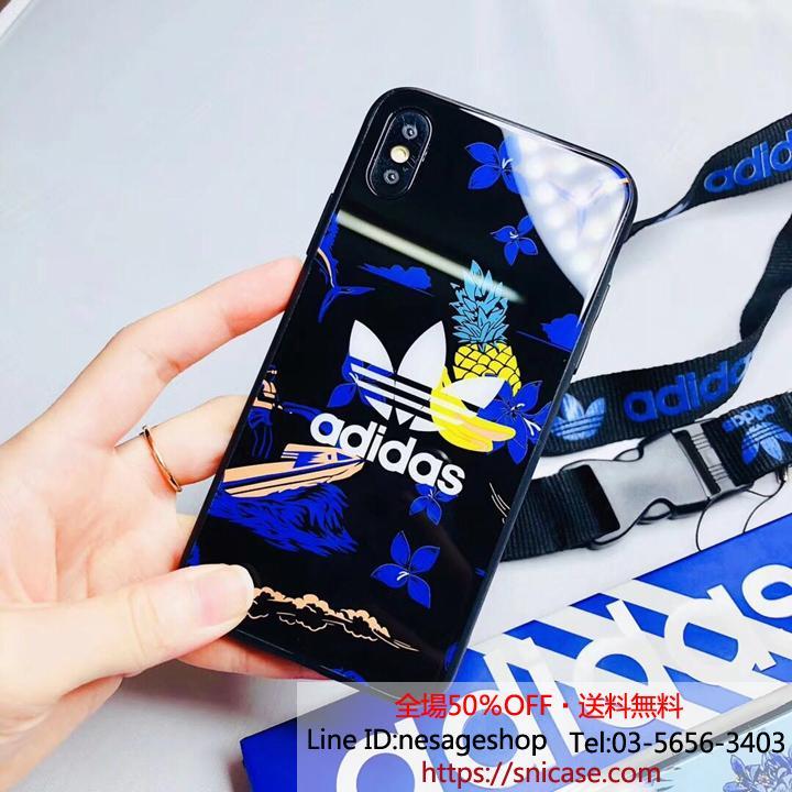 iPhoneXS マックスケース アディダス ガラス