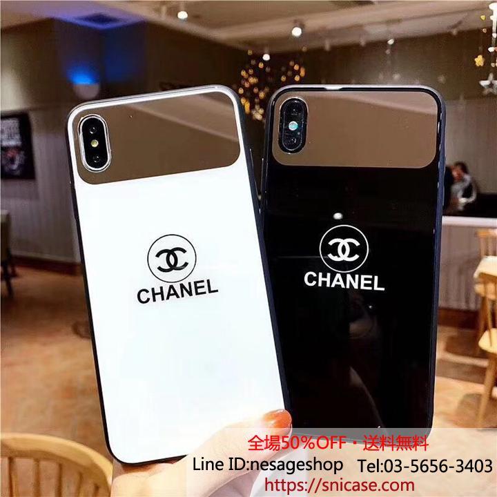 iPhoneXR ミラーケース シャネル