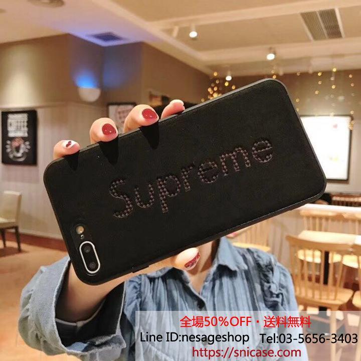 シュプリーム iPhone XSケース レザー